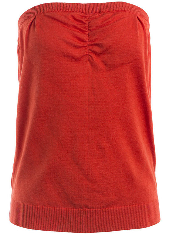 Undercover Ruched Tube Top in Red - case-study