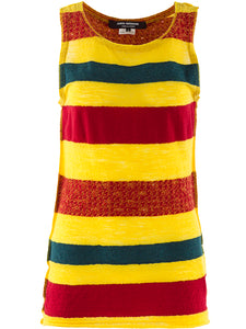 Junya Watanabe Wool Striped Tank Top - case-study