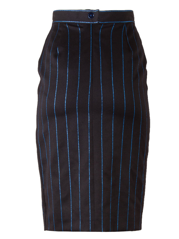 Chantal Thomass Fitted Pinstriped Skirt - case-study