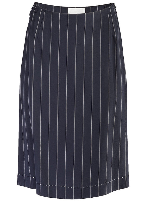Maison Martin Margiela Pinstriped Straight Skirt - case-study