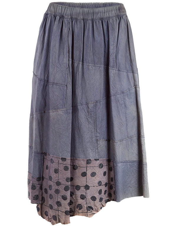 Comme des Garçons Washed Leather Patchwork Skirt - case-study