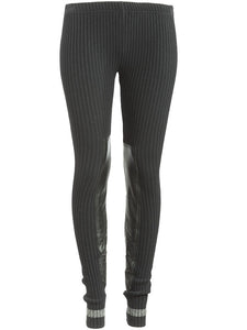 Undercover Leather Detail Knit Leggings - case-study