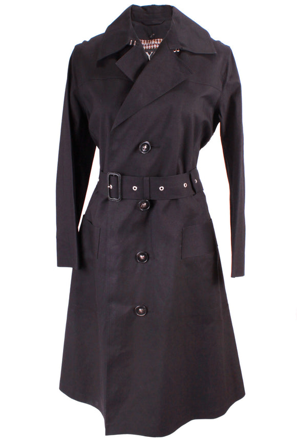 Yohji Yamamoto Long Trench Coat with Belt in Black - case-study
