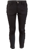 Junya Watanabe Skinny Pants with Ribbon Detail - case-study