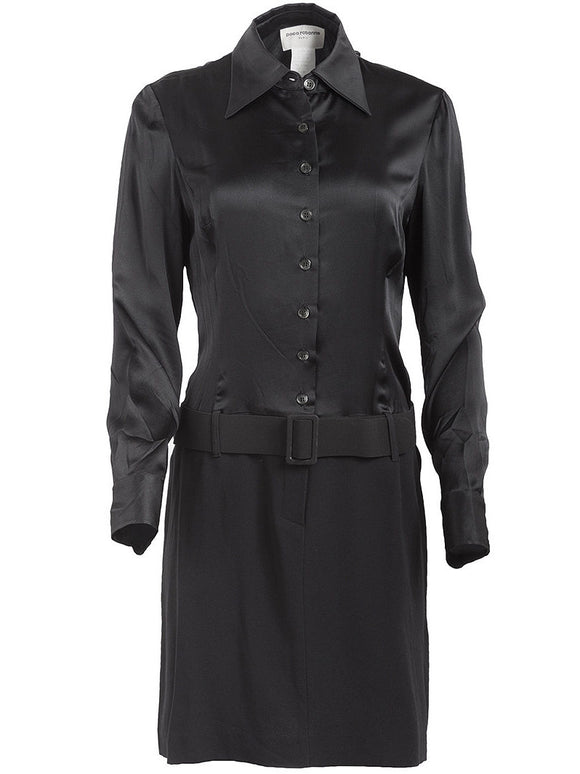 Paco Rabanne Silk Belted Shirt Dress - case-study