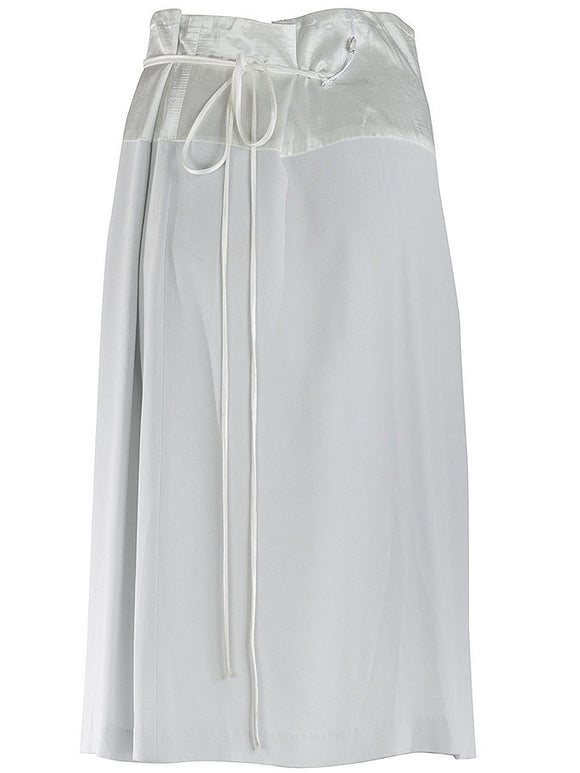 Maison Martin Margiela Blank Label Drawstring Silk Skirt - case-study