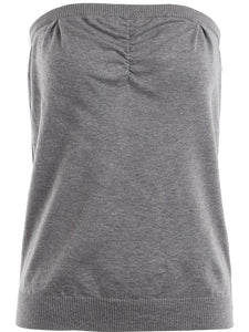 Undercover Ruched Tube Top in Grey - case-study
