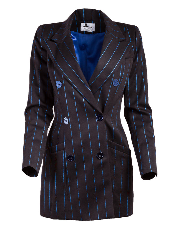 Chantal Thomass Fitted Pinstriped Jacket - case-study