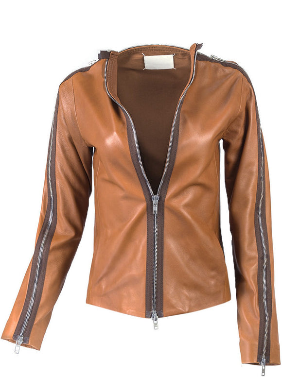 Maison Martin Margiela Leather Zip Detail Jacket - case-study