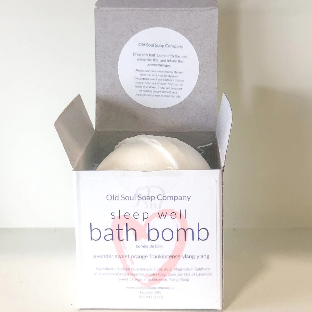 I AM Sleep Well Bath Bomb by Old Soul Soap Company