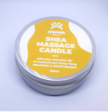 Load image into Gallery viewer, I AM Natural Shea Massage Candle Pachouli &Ylang Ylang Scent 250ml by Mamaa Trade