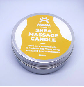 I AM Natural Shea Massage Candle Pachouli &Ylang Ylang Scent 250ml by Mamaa Trade