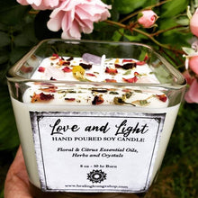 "Load image into Gallery viewer, I AM "" Love and Light"" Soy And Essential Oil Candle by Healing Lounge Shop"