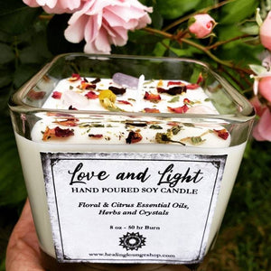 "I AM "" Love and Light"" Soy And Essential Oil Candle by Healing Lounge Shop"