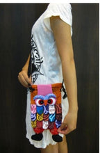 Load image into Gallery viewer, Kids Patchwork Owl Bag Style 02
