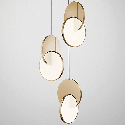 Eclipse Chandelier Gold