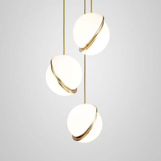 Mini Crescent Chandelier 3 Piece