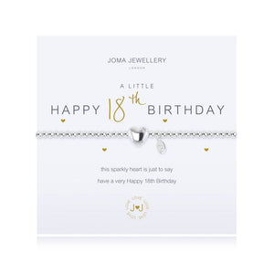 Joma Jewellery  'A Little' Happy 18th Birthday Bracelet