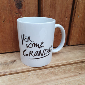 This mug with the slogan 'Yer Some Grandad' is the perfect for those Grandads who are notoriously difficult to buy for.  Different variations available.  Printed in Glasgow.