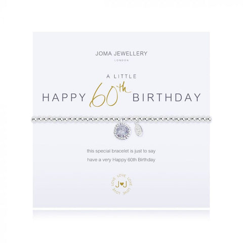 Joma Jewellery  'A Little' Happy 60th Birthday Bracelet