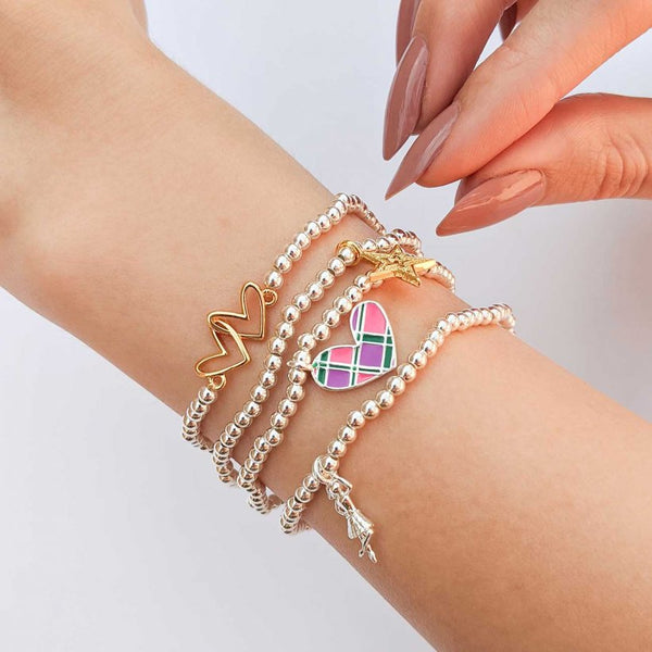 Joma Jewellery 'a little' bracelet with pretty little charm, presented on a sentiment card which reads:  'this little bracelet is just to say you're ma wee pal in every way'