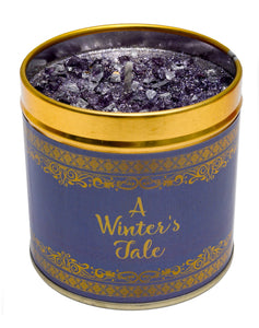 Gorgeous hand finished, scented candle with added sparkle from Best Kept Secret's Seriously Scented Christmas range with festive sentiment 'A winters tale'.  Scent:   - Highlights of oriental cassis, green notes and a warm centre of freesia may rose and lily. These rest on cedar, sandalwood, amber, sugar and vanilla.