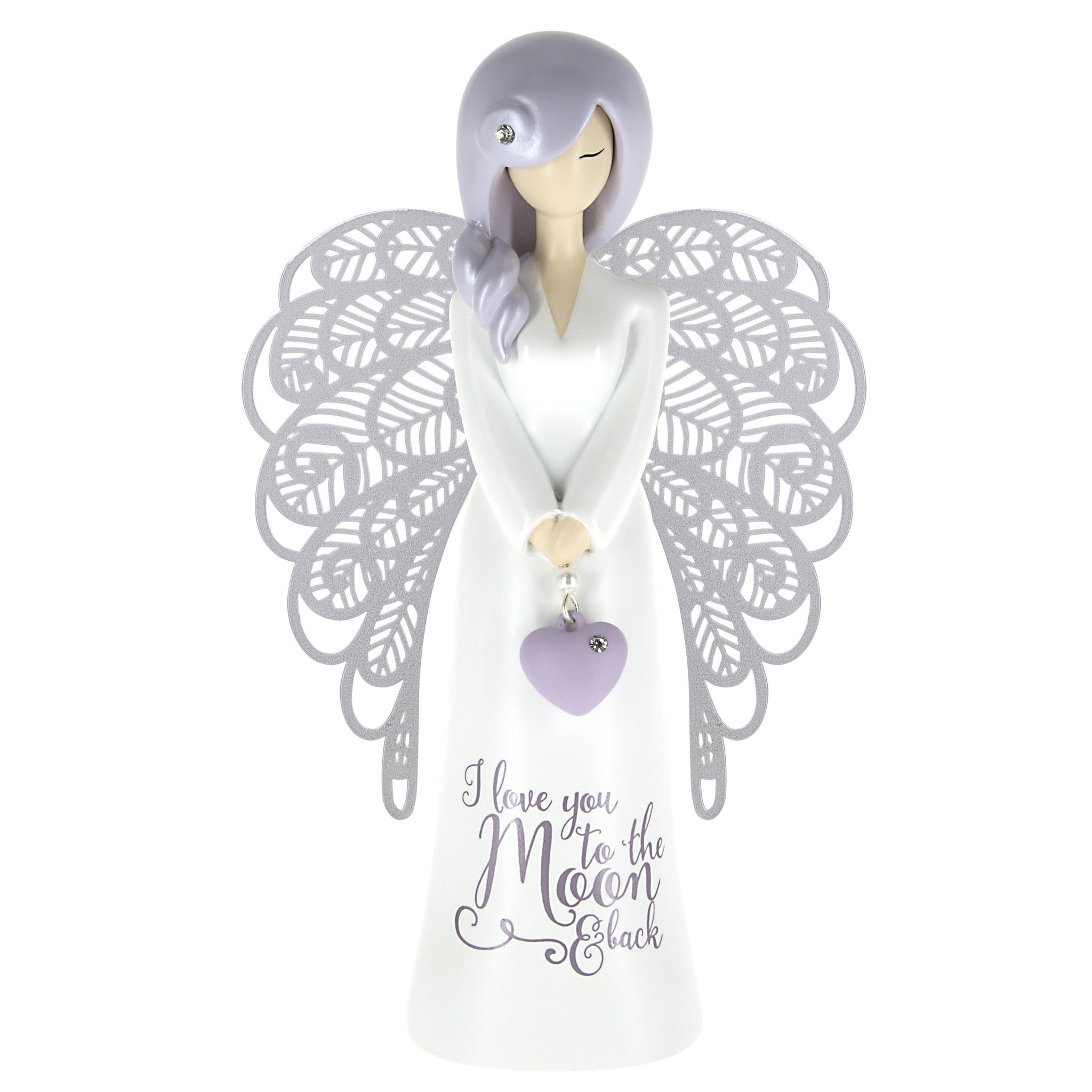 Angel figurine - I love you to the moon & back