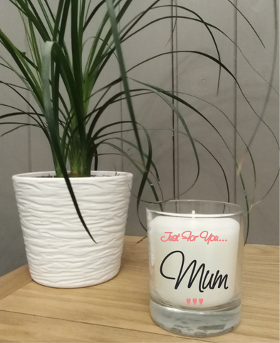 DeKassa Fine Fragrance glass jar candle just for you Mum