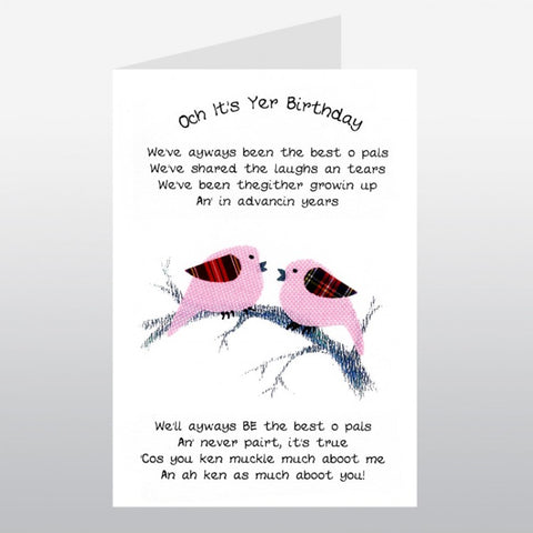 Scottish Birthday Card - Old Pals