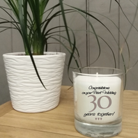 This 30th Wedding Anniversary jar candle comes in its own gift box and is a perfect gift for a couple celebrating 30 years together.