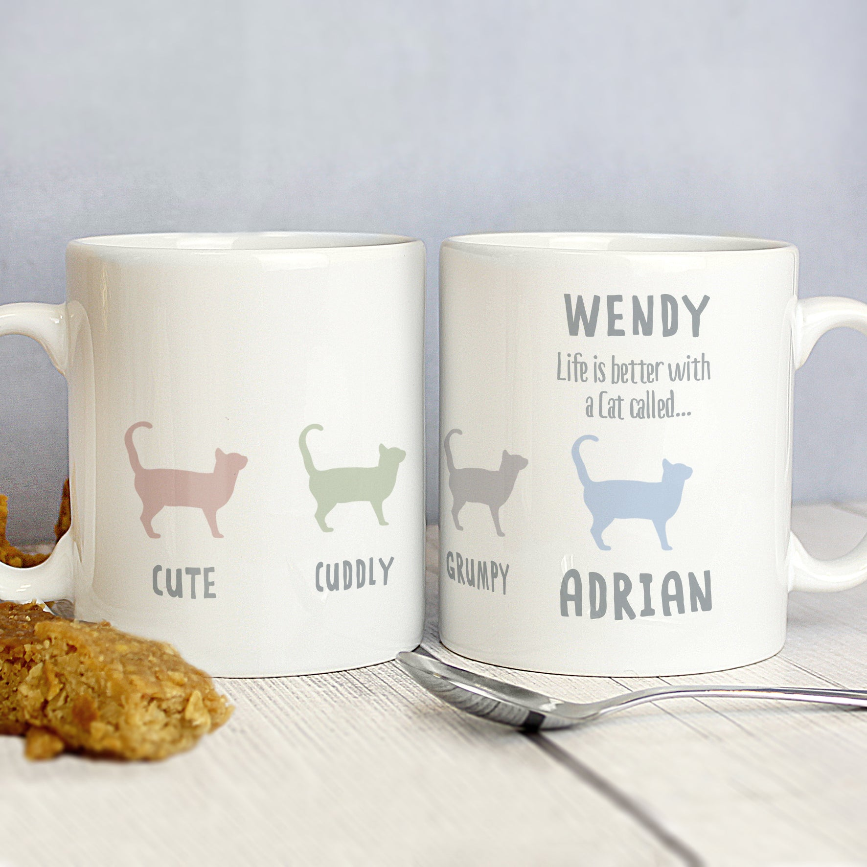 Personalised Mug For Cat Levers