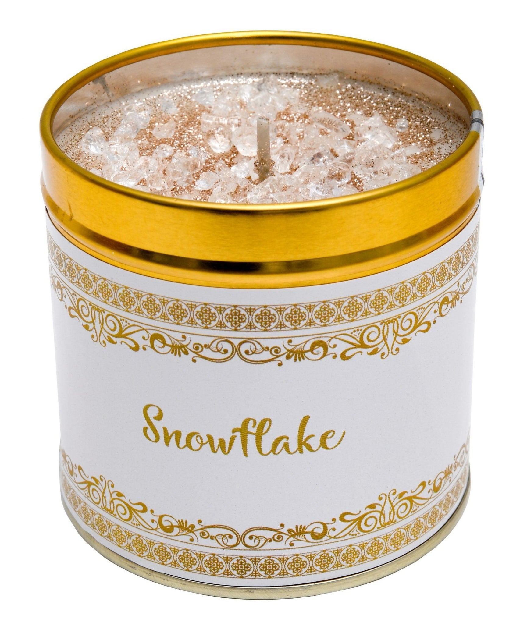 Gorgeous hand finished, scented candle with added sparkle from Best Kept Secret's Seriously Scented Christmas range with festive sentiment 'Snowflake'.  Scent:    Fresh bergamot, lemon, neroli, cyclamen and sandalwood.