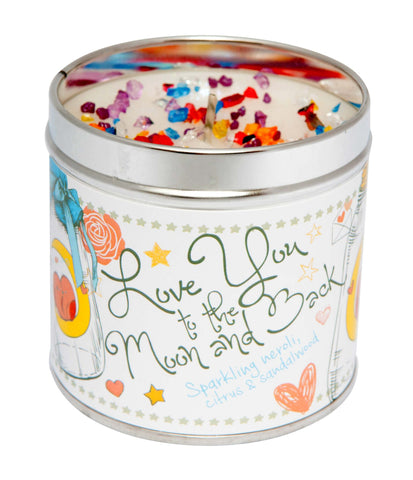 Best Kept Secrets Tin Candle Love you to the moon and back