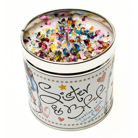 Best Kept Secrets Tin Candle Sister and BFF