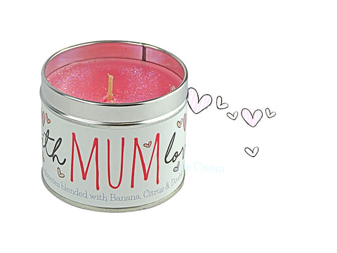 Gorgeous hand finished, scented candle with added sparkle from Best Kept Secret's Occasion range in collaboration with designer Tracey Russell.  Each candle has it's own sentiment.  The tin reads 'Mum with love'