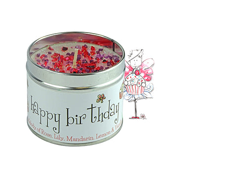 Best Kept Secrets Tin Candle Happy Birthday Tracey Russell
