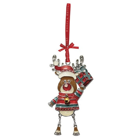 Luxury Sparkling Reindeer hanging decoration by Bailey & Brooke.  Beautifully presented in a Bailey & Brooke gift box. It will make a wonderful Christmas gift or addition to your own home to be treasured for years to come.