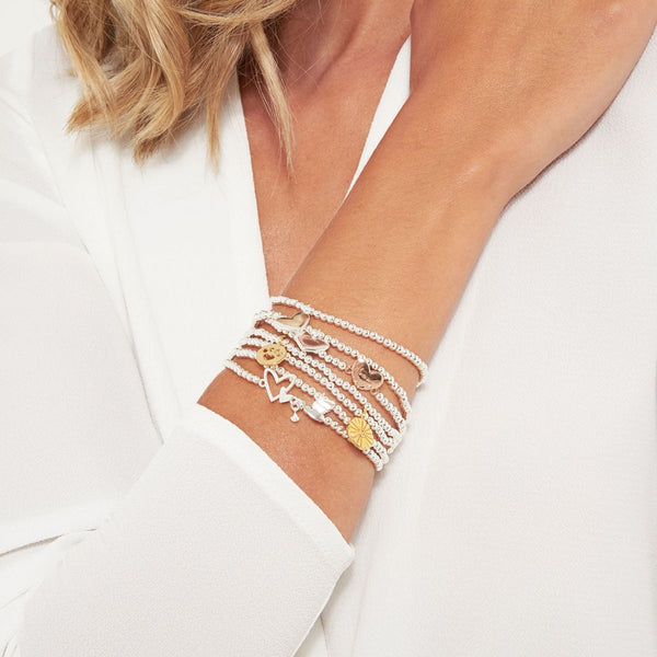 Joma Jewellery 'a little' bracelets stacked