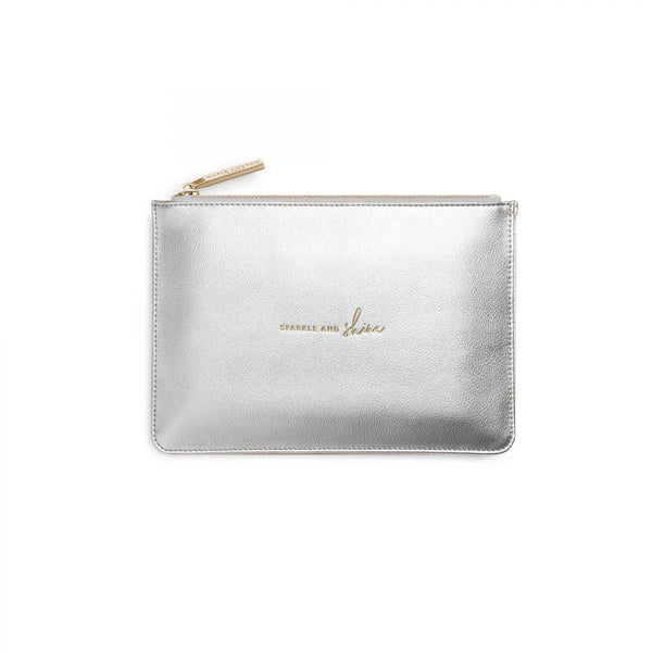 Katie Loxton Perfect pouch gift set sparkle and shine mini silver pouch