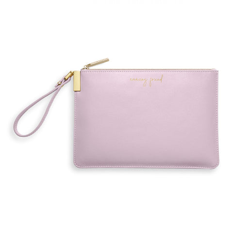 Katie Loxton Secret Message Pouch Amazing Friend You are the best pale lilac