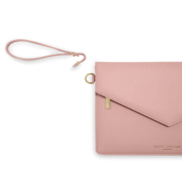 Detachable strap Katie Loxton Esme Envelope Clutch Pink