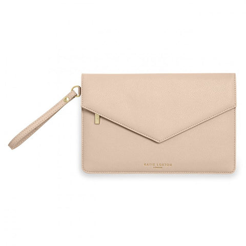 Pink Esme envelope clutch bag from Katie Loxton which features a hidden sentiment underneath the envelope fold that reads 'be your own kind of beautiful'.    This stylish clutch is the perfect finishing touch to your evening outfit.