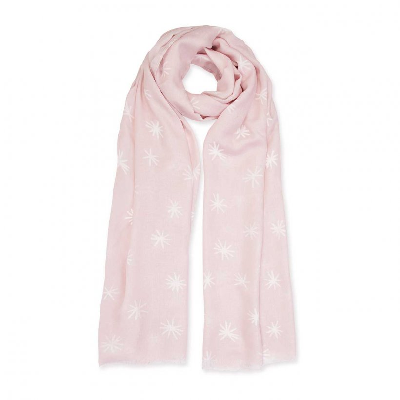 This lovely soft Herringbone Weave sentiment scarf features a pretty starburst print scattered throughout. Beautiful addition to your winter wardrobe.