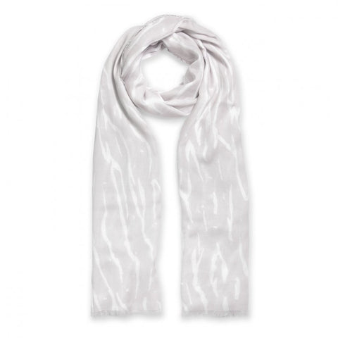 This beautiful pale grey Katie Loxton Scarf featuring soft frayed edges and a classy zebra print will bring style and class to your wardrobe.  A treat for yourself or a perfect gift for that special someone.
