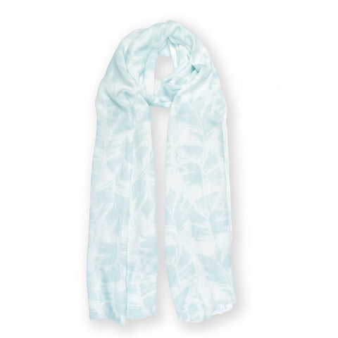 This stylish Katie Loxton scarf in white and green featuring a large palm leaf pattern and finished with a soft frayed edge is gorgeous and elegant.