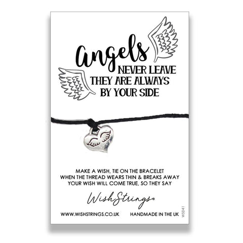 wishstrings wish bracelet angels never leave