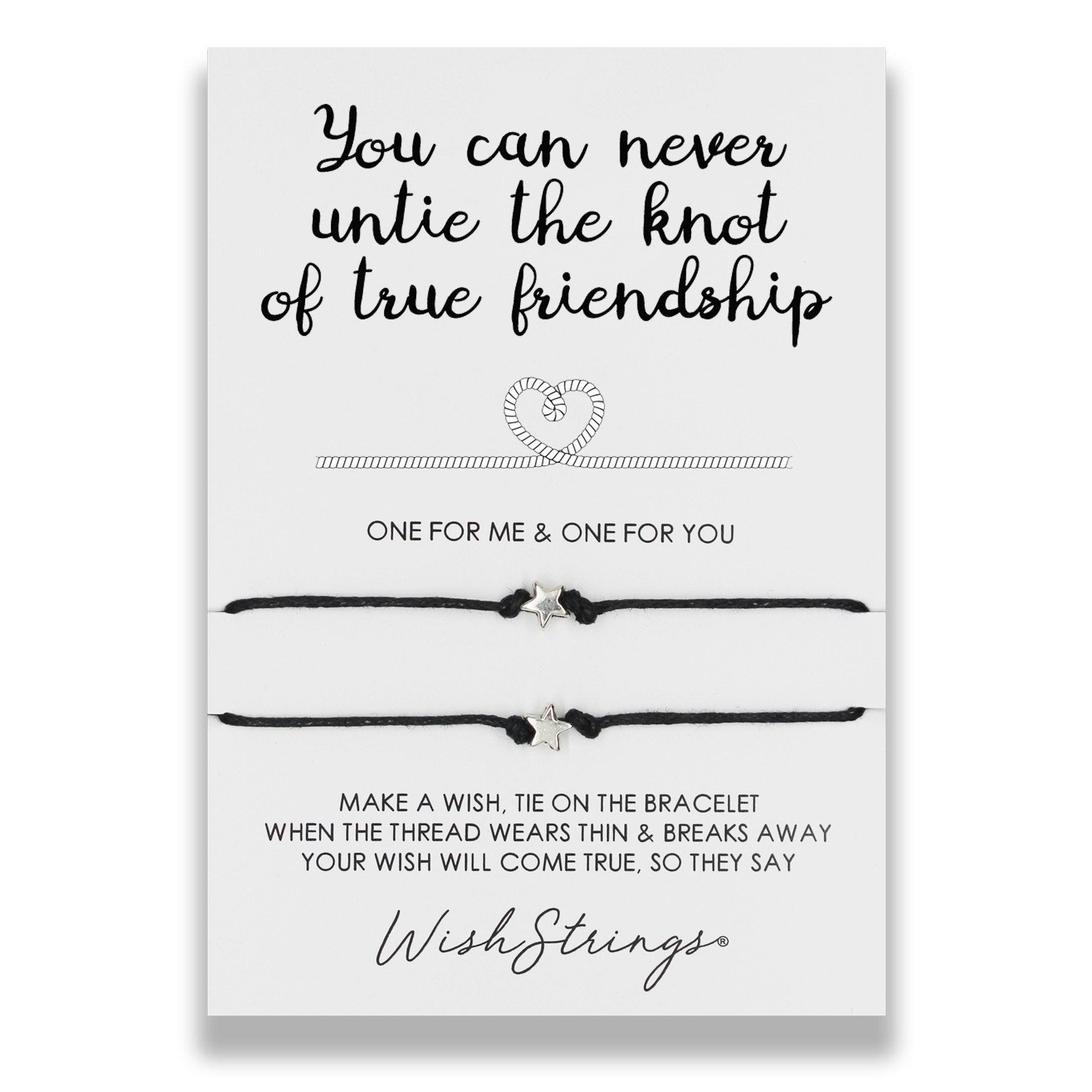 Duo Wish bracelets - you can never untie the know of true friendship