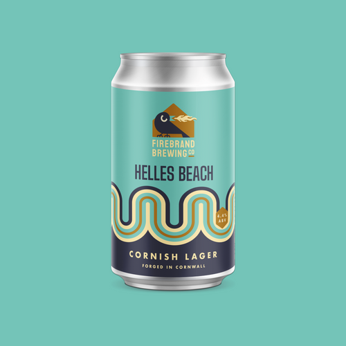 Helles Beach Cornish Lager Firebrand Brewing Co