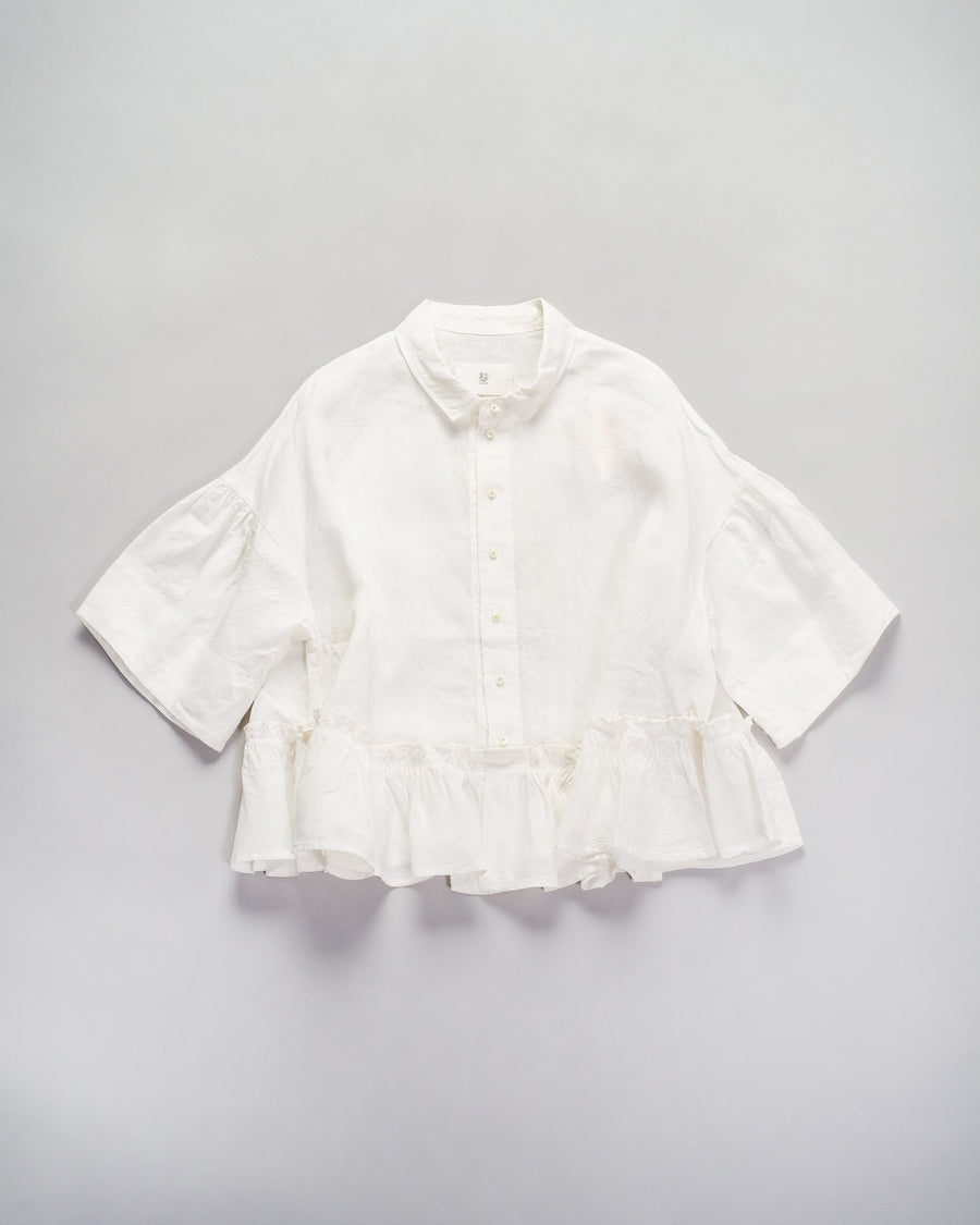 gathered hem blouse