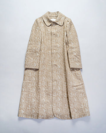 13201 09201 gasa japan coat jacket women's gasa floral jacquard coat in beige grey noodle stories